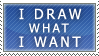 I draw what I want stamp
