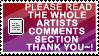 artists comments stamp + plz
