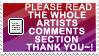 artists comments stamp + plz by izka197