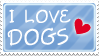 I love dogs stamp by izka197