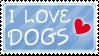 I love dogs stamp by izka197