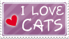 I love cats stamp by izka197
