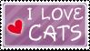 I love cats stamp by izka197