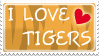 I love tigers stamp by izka197