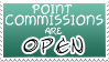 Point Commissions Open Stamp