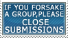 Close Submissions stamp