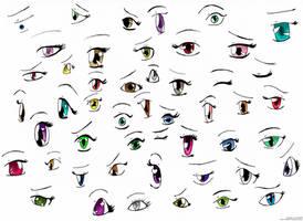 Anime Eyes- practice by izka197