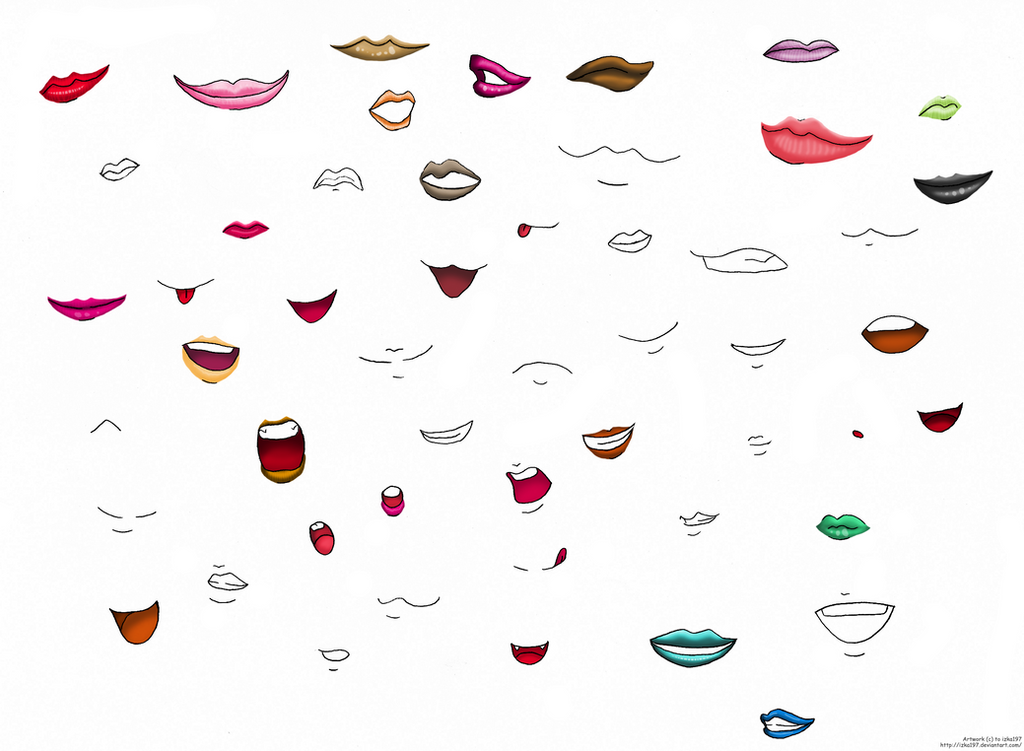 Anime Lips And Mouths By Izka197 On DeviantArt