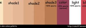 Skin Colors Palette