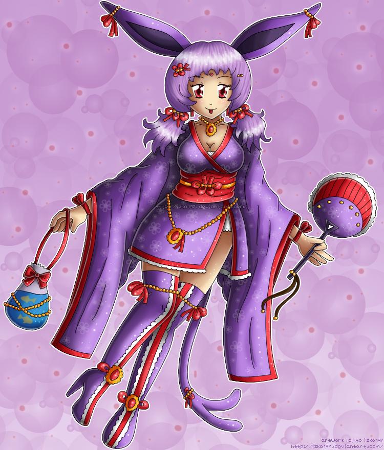 ...:: Kimono Espeon ::... by izka197