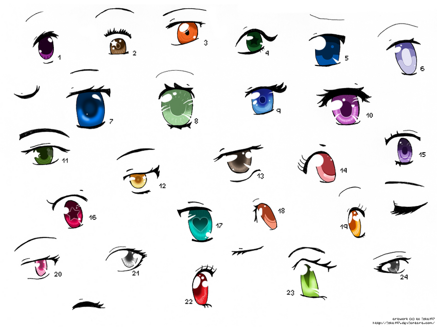 Anime Eyes 3 by izka197 on DeviantArt