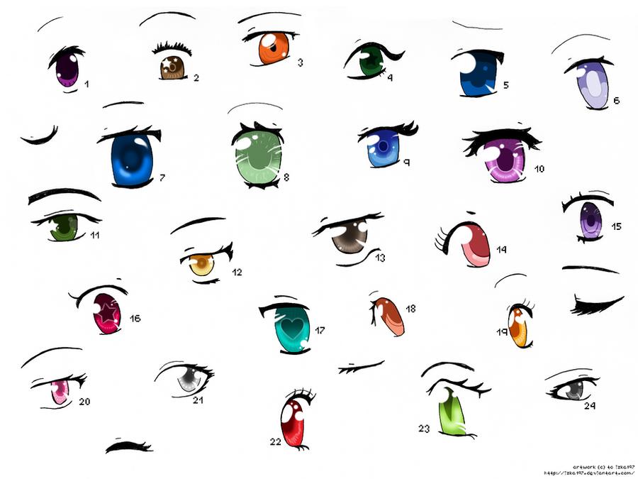 Anime Eyes 3 By Izka197