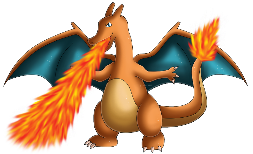 Pokedex 006: Charizard- Flamethrower by izka197