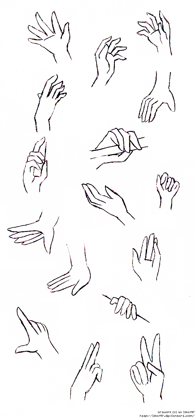 How To Draw Anime Hands Step 1 Hands Practice I By Izka197