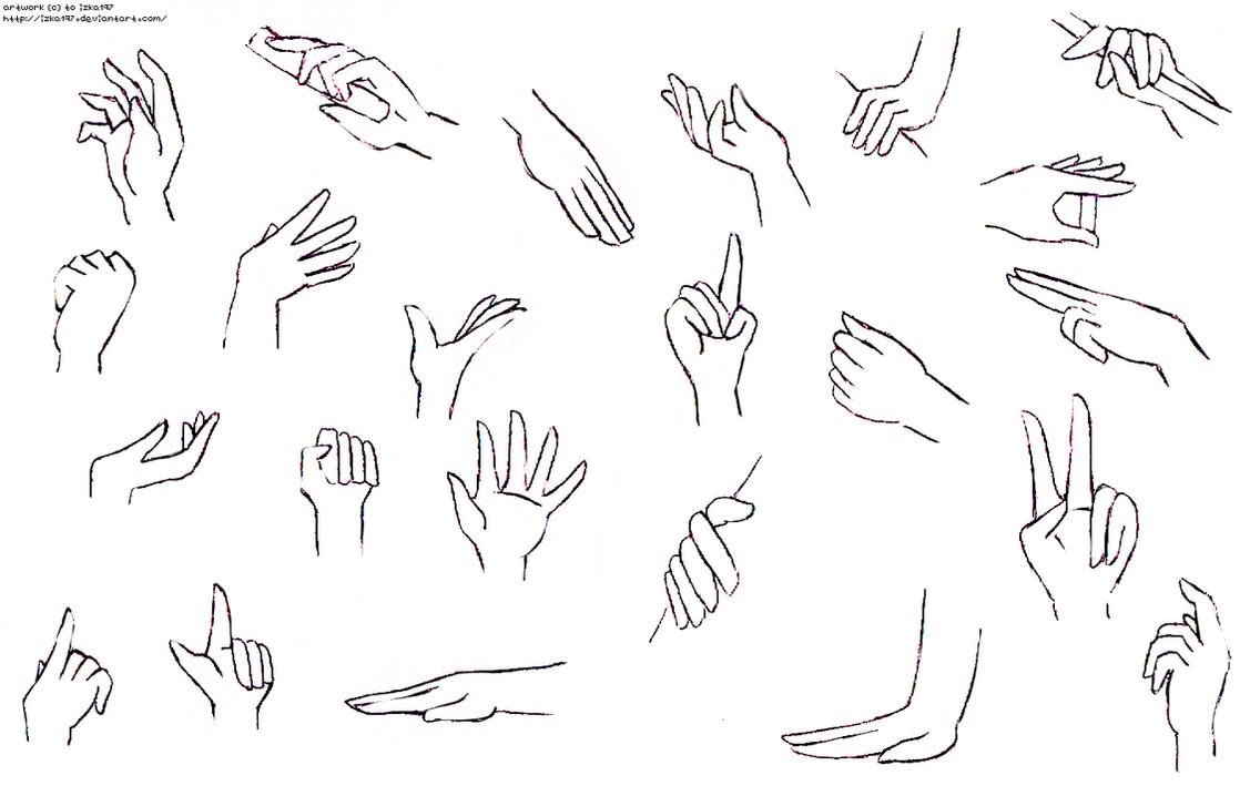 Thick Neck How Draw Masksics Hands Practice Ii By Izka197