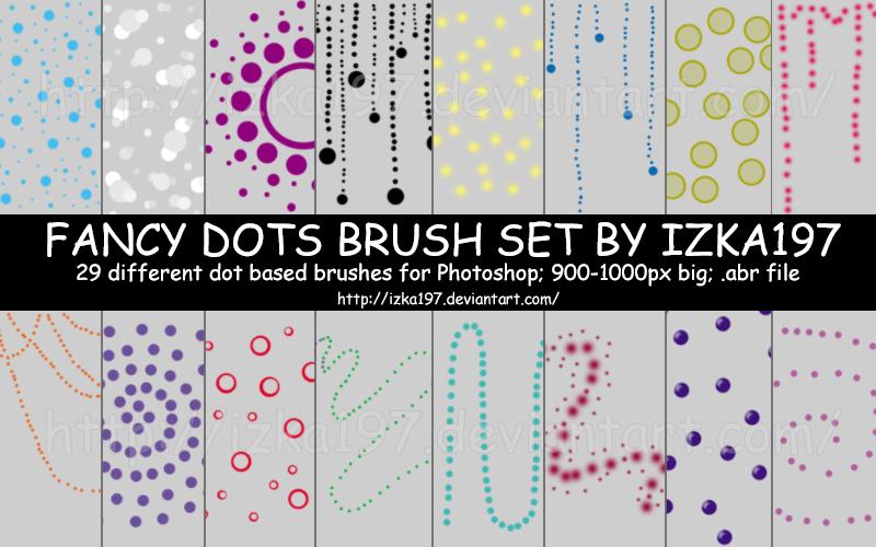 Fancy Dots Brush Set by izka197
