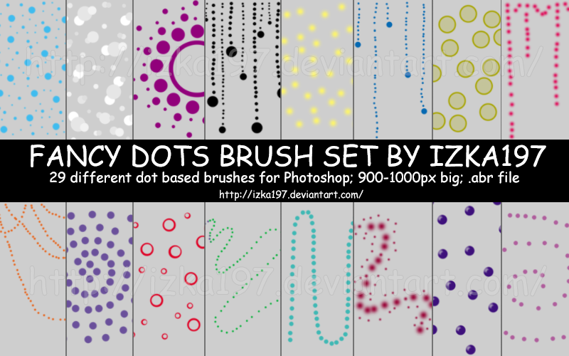 Fancy Dots Brush Set