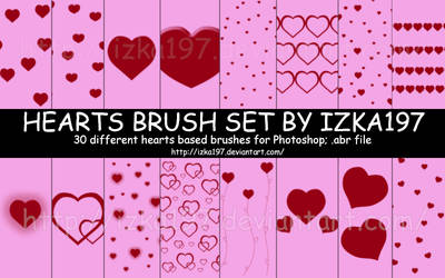 Hearts Brush Set by izka197