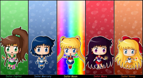 Sailor Moon: Chibi Inner Senshi full set by izka197