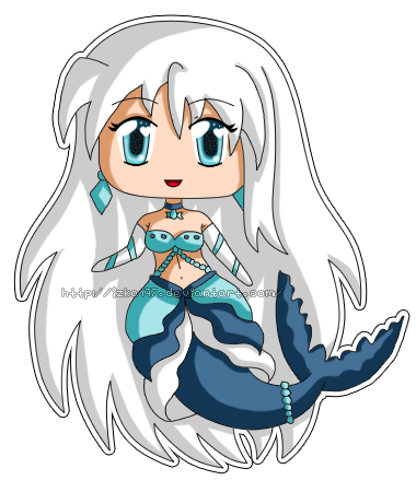 [Commission] Mini Chibi Mermaid Keba by izka197
