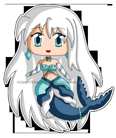 [Commission] Mini Chibi Mermaid Keba by izka197