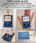 Hand Made Blue GAMEBOY Keychain