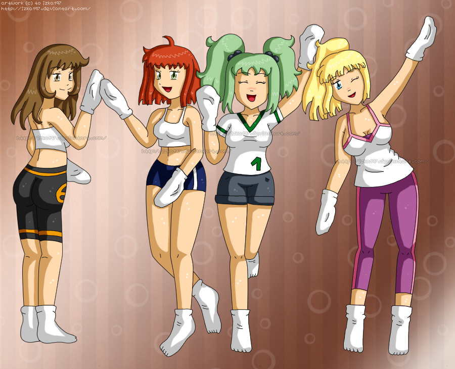 [Commission] Sport Ladies v1 socks by izka197