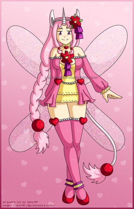 [CLOSED] Pink Heart Unicorn Fairy Adoptable by izka197