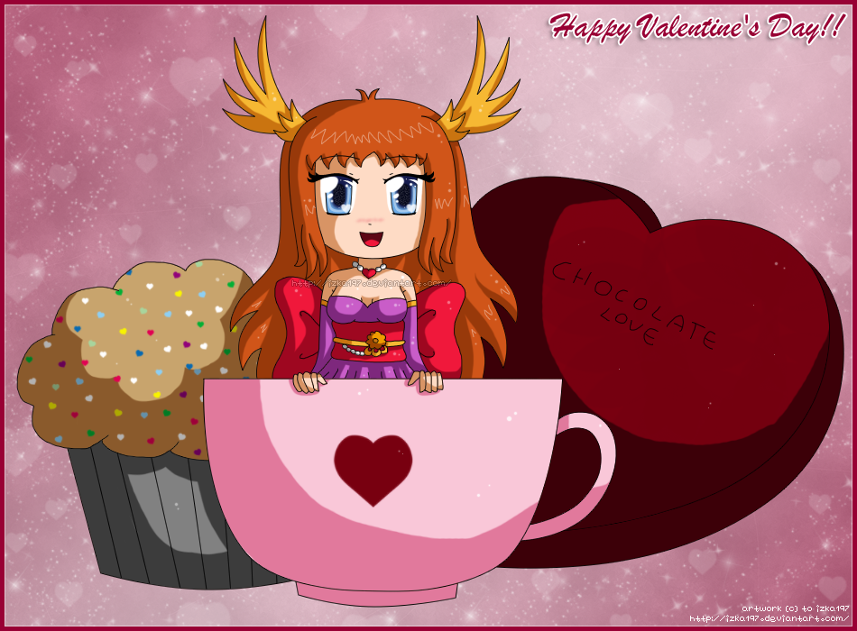 [OC] Cup of Izka Love: Happy Valentines Day 2013! by izka197