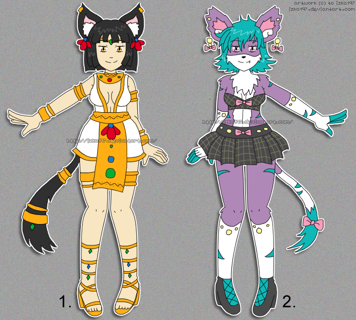[OPEN 1/2] Adopts: CatGirl CatAnthro reduced price by izka197