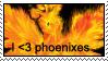 love phoenixes stamp