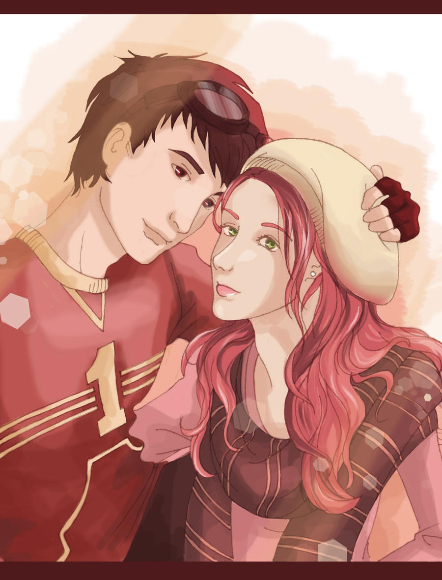 Lily and James after quidditch game by Chidori-aka-Kate