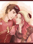 Lily and James after quidditch game