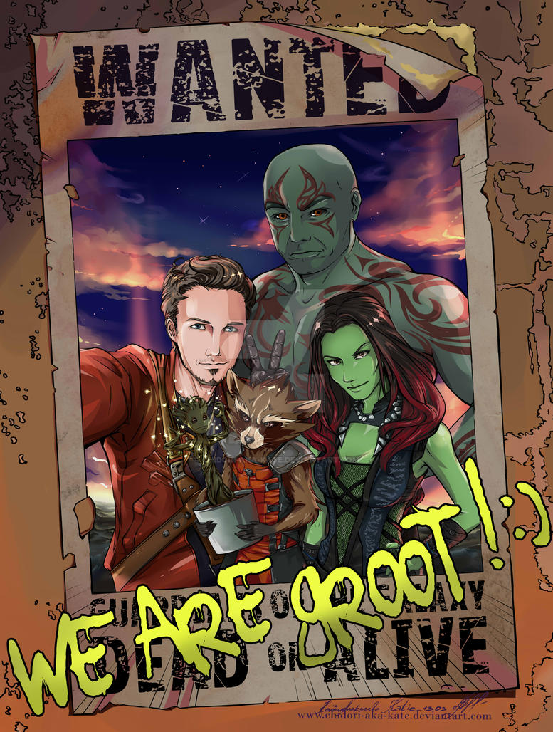 Guardians of the  Galaxy by Chidori-aka-Kate