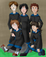 HP: Ravenclaw Boys by demonoflight
