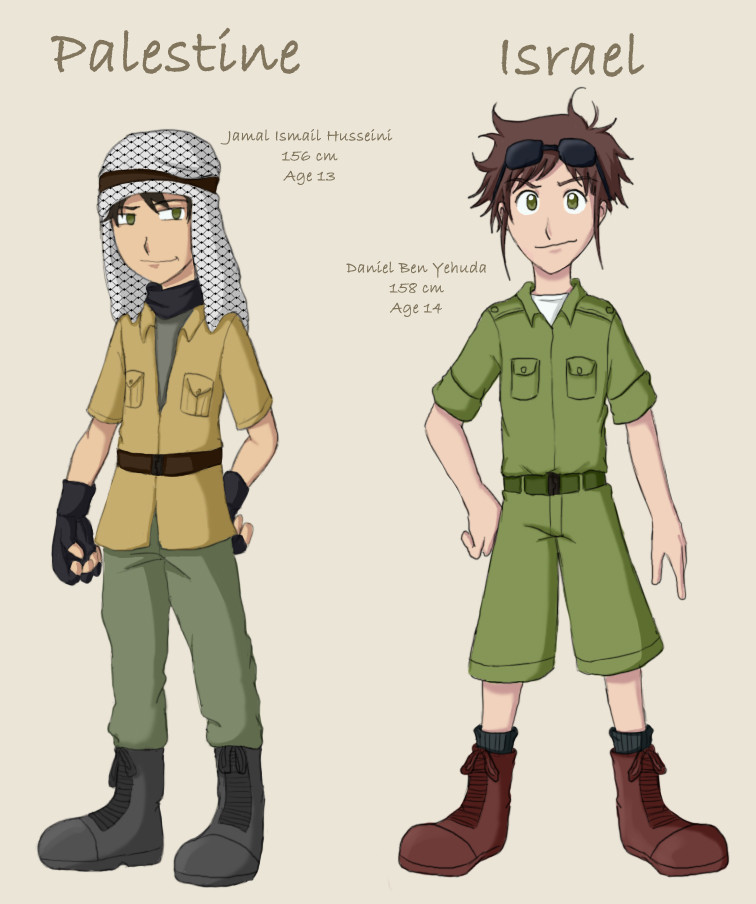 Aniam Israel  City pictures : Hetalia Israel and Palestine by demonoflight on DeviantArt