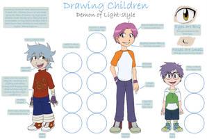 Drawing Children Tutorial by demonoflight