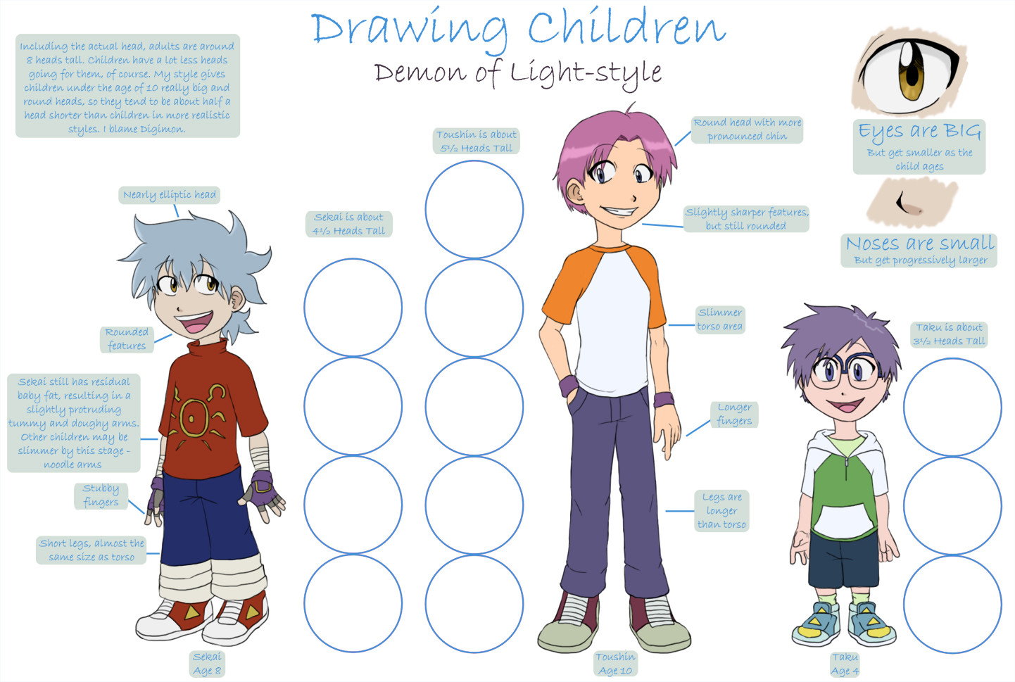 chame 47 4 drawing children tutorial by demonoflight - Picture For Drawing For Children