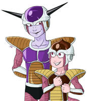 Freeza and Son by demonoflight
