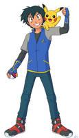 Pokemon 20th Anniversary - Ash and Pikachu by demonoflight