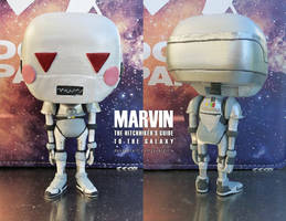Marvin, the paranoid android - Custom Funko Pop