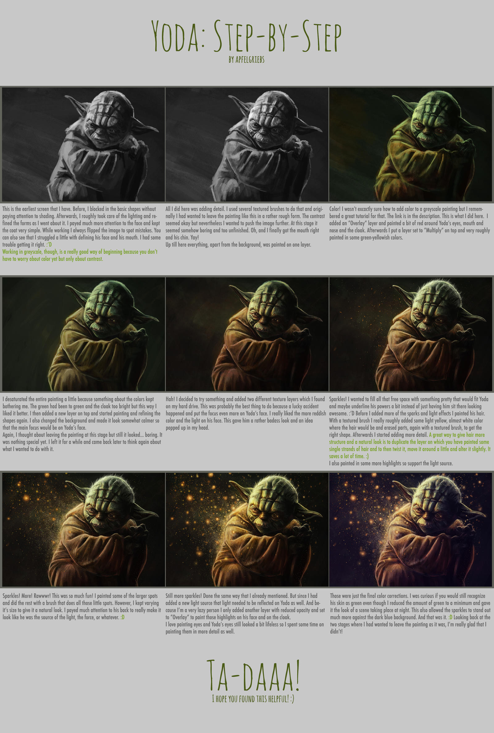 Yoda: Step by Step by apfelgriebs