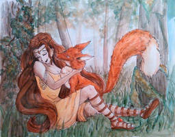Wood Nymph and Fox