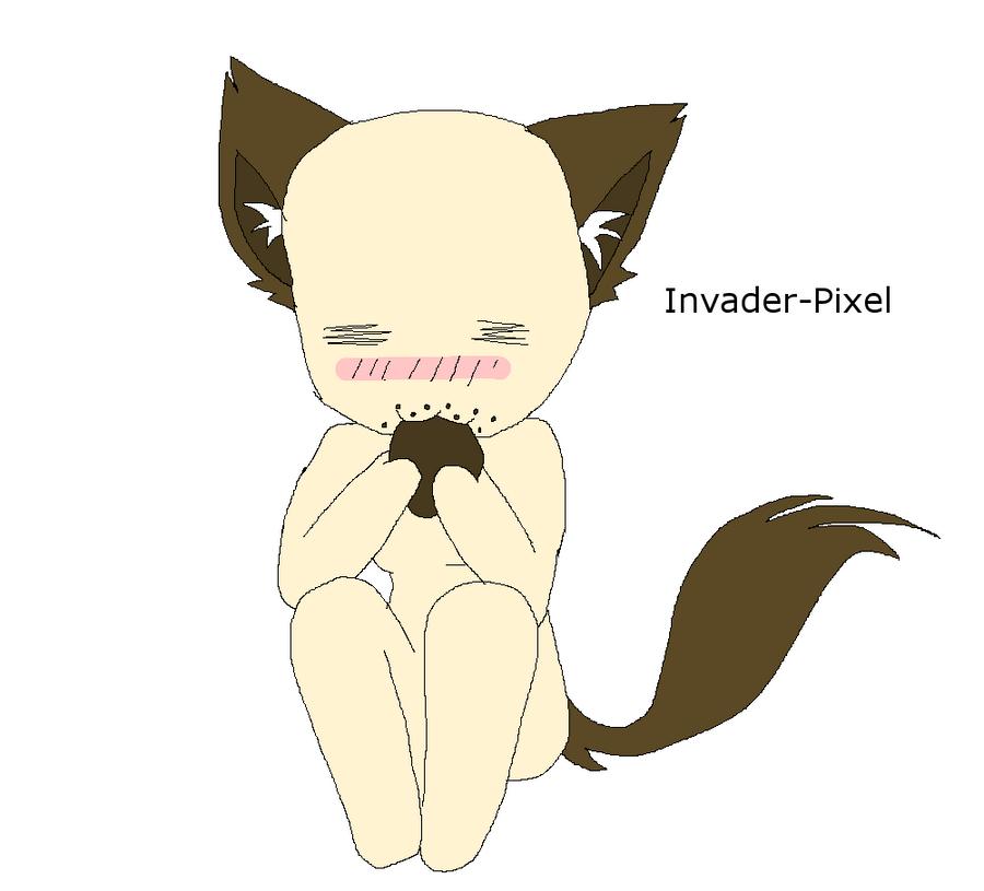 Chibi Neko cookie base by Invader-Pixel on DeviantArt