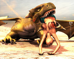 Gnawing on a Naga by PWRof3D