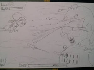 Possible Video Game concept - Sky warrior Toolie