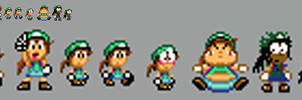 Cindette sprites WIP (Super Mario World style) by JuacoProductionsArts