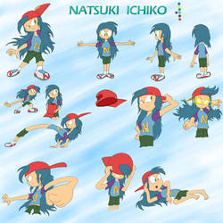 Natsuki Ichiko (Updated Reference Sheet) by JuacoProductionsArts