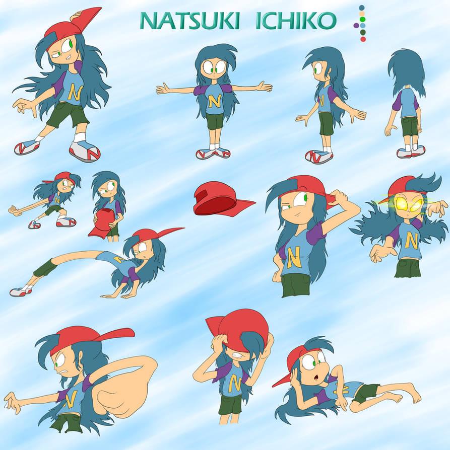 Natsuki Ichiko (Updated Reference Sheet) by JuacoProductionsArts