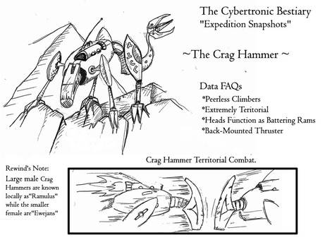 Early Crag Hammer concept for Page 15